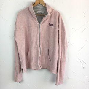 Vineyard Vines Heathered Pink Funnel Neck Jacket